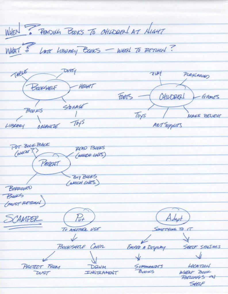 Bookshelf Brainstorming Notes