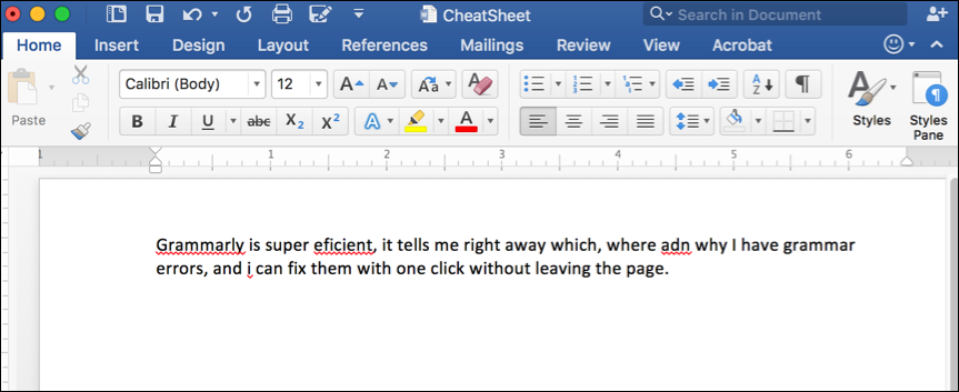 Microsoft Word Spelling & Grammar checker highlights mistakes but does not provide reasons or suggestions on how to fix them
